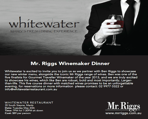Mr. Riggs Winemaker Dinner